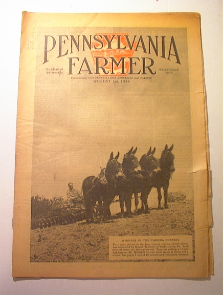 Pennsylvania Farmer,8/1/1936,PLOWING COVER