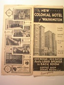 Colonial Hotel of Washington Brochure