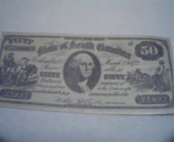Confederate Money Game Ticket 50 Face Value