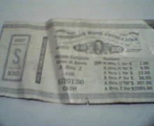 Confederate Money S Bond Repro Game Ticket!