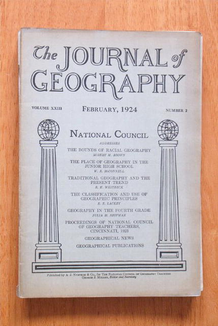 Journal of Geography 2/1924 for Educators and Teachers