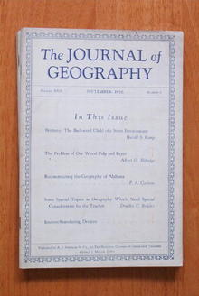 Journal of Geography 9/1930 Paper Industry
