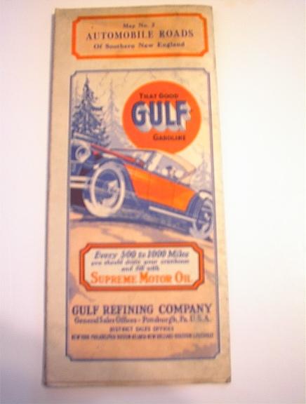 c1930 GULF Map No.2 Southern New England