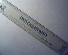 Cities Service Dealer Steel Ruler!