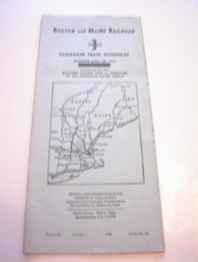 Boston and Maine Passenger Train Schedules