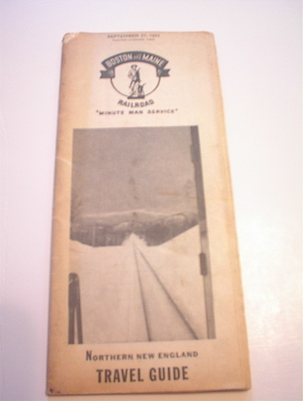 9/27/53 Boston & Maine Railroad Travel Guide