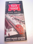 Rock Island Fall-Winter 1960-61 Time Table