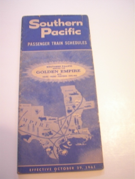 10/29/61 South Pacific GOLDEN Empire Schedule