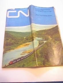 Canadian National Railway 1965 Time Table