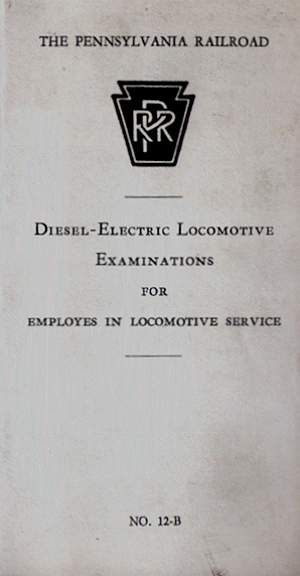 PA Railroad Locomotive Examinations; 1958