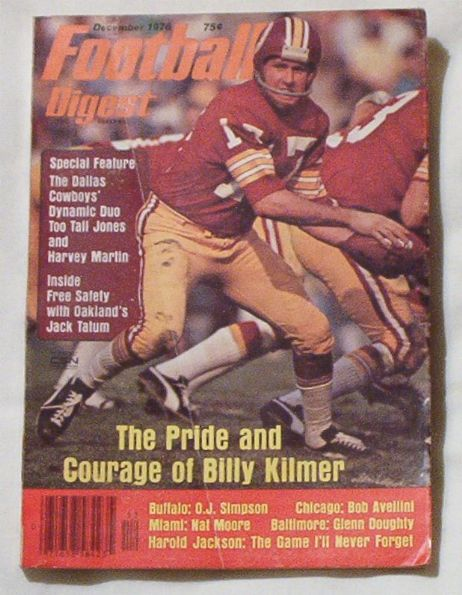 Football Digest 12/1976 Billy Kilmer cover