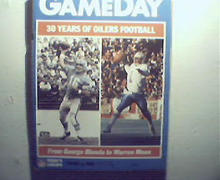 Gameday-12/3/89 Steelers vs Oilers! Pro Hall of Fame!
