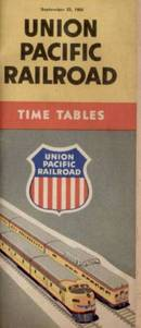 Union Pacific Time Tables; 1956