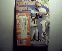 Football Digest-9/87 Billy Kilmer, AFC and NFC Leaders!