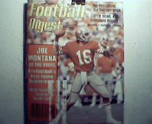 Football Digest-5/6-82 Super Bowl XIV,Joe Montana,More!