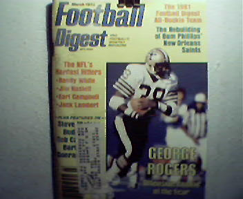 Football Digest-3/82 Rookie All Stars,Dave Jennings!