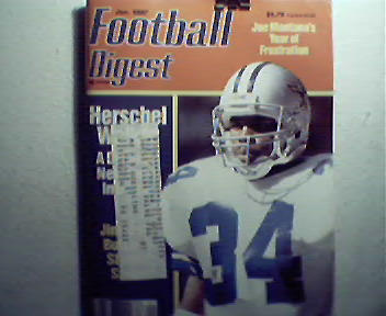 Football Digest-1/87 Joe Montana,Herschel Walker,More