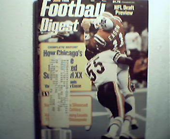 Football Digest-5-6/86 Super Bowl XX, Bo Jackson,More!