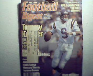 Football Digest-10/87 Tom Landry,Mark May,M Morris!