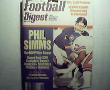 Football Digest-5-6/87 Super Bowl XXI, Karlis,Kosar,Hay