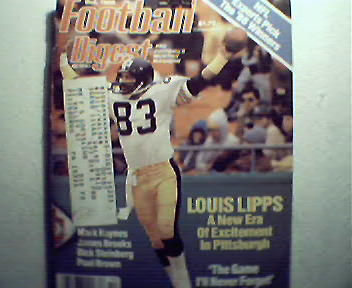Football Digest-10/86 Steelers,Ditka Autobiography,More