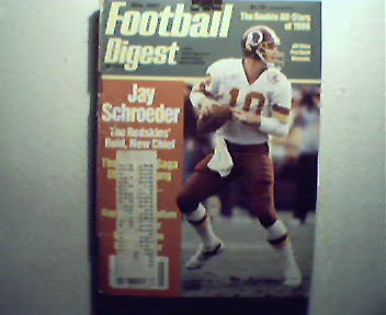 Football Digest-3/87 Curt Warner,McCallum, USFL,Guys!