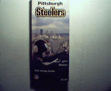 Pittsburgh Steelers 1989 Media Guide! Noll, Art Rooney!