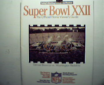 Super Bowl XXII-Official Home Viewers Guide!