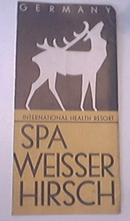 Spa Weisser Hirsch Germany c1950 Brochure
