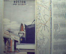 Atlantic Oil-Boston and Vicinity Map from 1957!