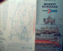 Midwest Schedules for Amtrak Trains 1975!