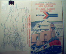 Chicago, New Orleans,Houston, Laredo 1975 Amtrak!