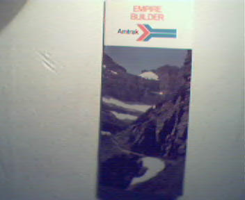 Empire Builder from Amtrak from 1973! Color!