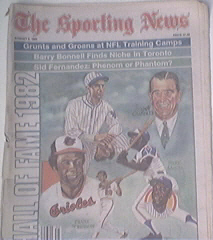 The Sporting News 8/2/1982 Hall of Fame 1982