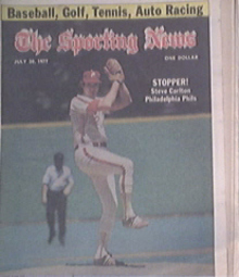 The Sporting News 7/30/1977 Steve Carlton cover