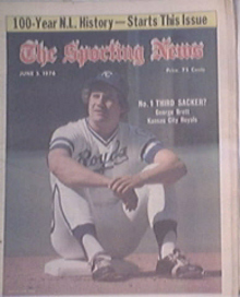 The Sporting News 6/5/1976 GEORGE BRETT cover