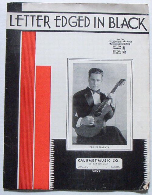 Letter Edged in Black - Frank Marvin Guitar Music, 1935