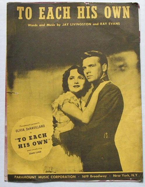 To Each His Own - Olivia DeHavilland / John Lund, 1946