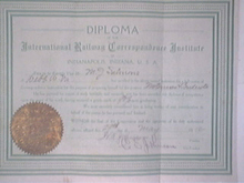 DIPLOMA International Railway Correspondence Institute