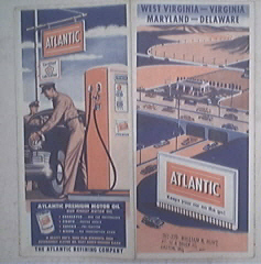 c1940 ATLANTIC Road Map West Virginia, Virginia