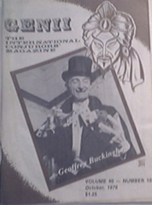 GENII Magazine 10/1976  Geoffrey Buckingham