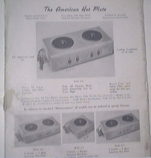 The American Hot Plate Models #11, #22, #23, #24