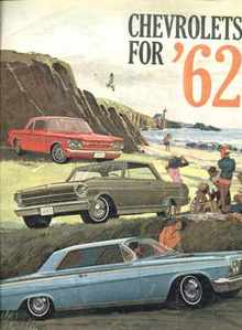 Chevrolets for '62 beautiful illustrations