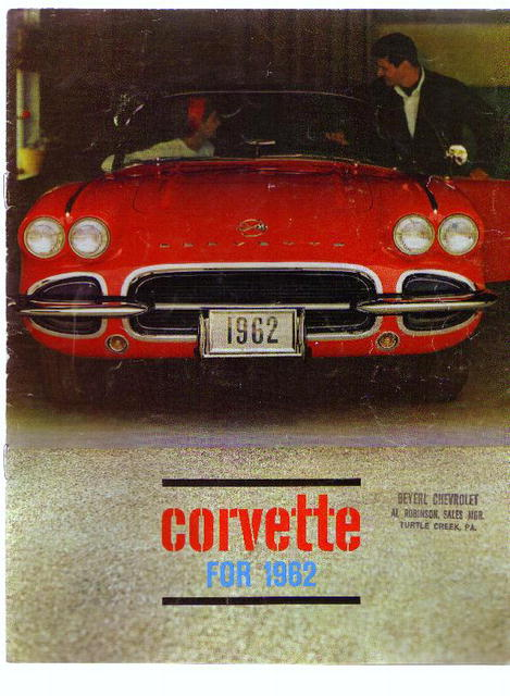 Corvette, 1962 ad booklet