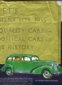 1935 Chevrolet centerfold (Collier's)