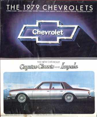 The 1979 Chevrolets Photo Booklet
