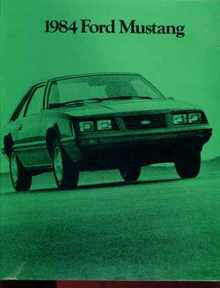 1984 Ford Mustang Sales Photo Booklet