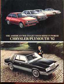 Chrysler plymouth '82 Photo Ad Brochure