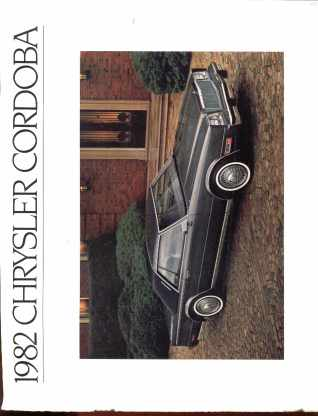 1982 Chrysler Cordoba Photo Brochure 11x9.5