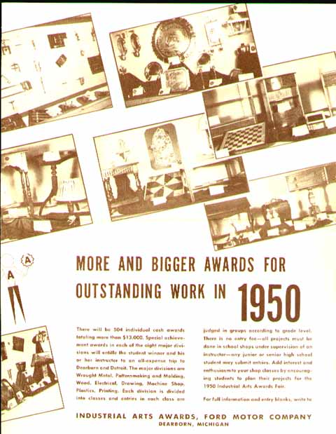 Ford Motor Corp Industrial Arts Awards 1950